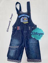 Комбинезон джинсовый  махра