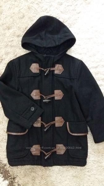 Демисезонное шерстяное пальто GapKids на 6-7 лет, рост 120 см.