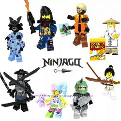 NinjaGo Minifigures, Нинзяго  набор из 8 героев.