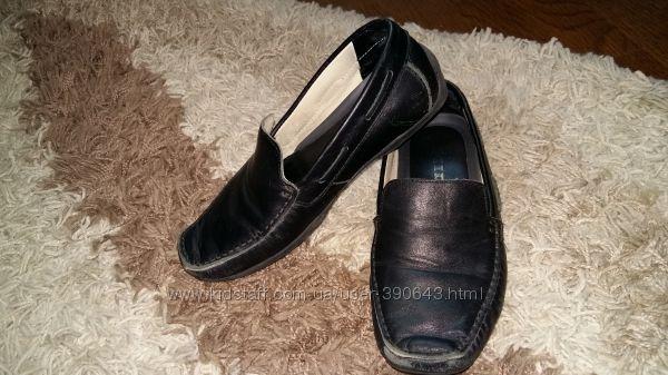 Кожаные школьные мокасины, туфли Мида, размер 35.  Длина стельки 22, 5 см.