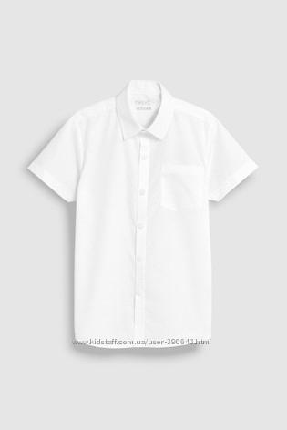 Рубашка с коротким рукавом Next на 9 лет 134 см, зауженные крой