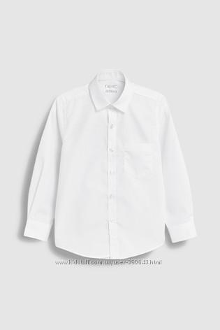 Рубашка с длинным рукавом Next на 9 лет 134 см, стандартный крой.