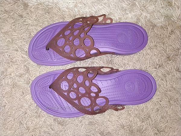 Вьетнамки, шлепанцы Crocs размер w10, наш 41.