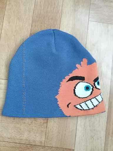 Продам демисезонную хлопковую двойную шапку H&M р. 50-51