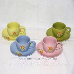 Чайный сервиз на 4 персоны Радуга