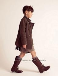 Пальто шинель Zara синее, хаки 5-8 лет в наличии