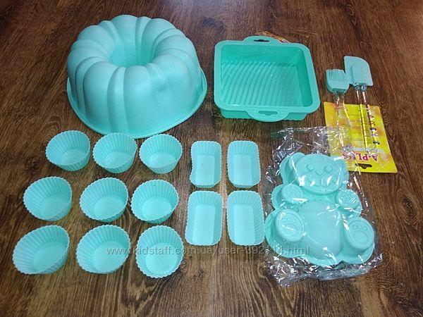 силиконовая форма для кексов пирога выпечки