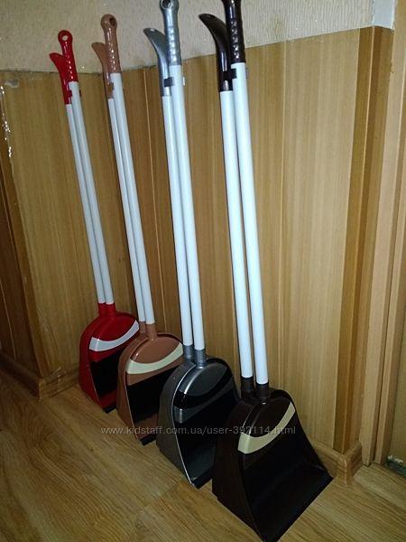 совок со щеткой Лентяйка большой совок и длинные ручки