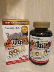 Детские мультивитамины с пробиотиками . iherb. Animal Parade Америка