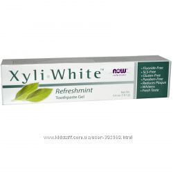 Now Foods Solutions, Гель-паста Xyli-White с ароматом свежей мяты - ХИТ