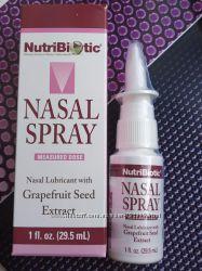 NutriBiotic, Назальный спрей, с экстрактом семян грейпфрута, 29, 5 мл