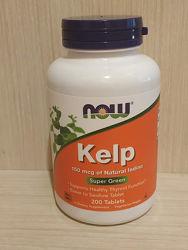 Now Foods Kelp натуральный йод для щитовидной железы на 6 мес. приема