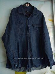 Продам рубашку из легкой джинсовой ткани