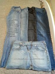 Продам пакет женских джинсов  4 позиции  бонус джинсовая юбка.