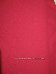 Ткань трикотаж красного цвета