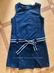 Синий школьный сарафан Crazy8 размер 10 на рост 140-150