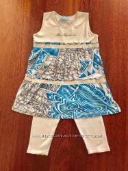 Туника-платье Blumarine и лосины Zara 140