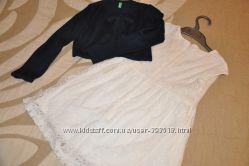 Нарядное платье Benetton на 4-5 лет