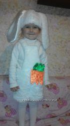костюм зайчика 1-3 года