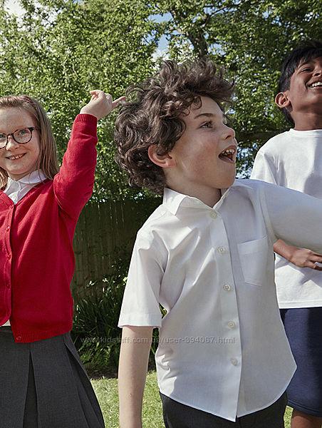 Рубашка, шведка школьная C&A на 10 лет рост 140см на крупного мальчика