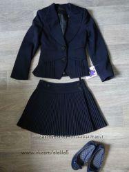 Школьный костюм тройка, школьная одежда, брюки, юбка, пиджак