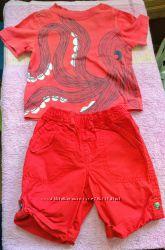 Комлект шорты и две футболки 18 месяцев