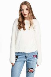 Мягчайший белый свитер H&M, L