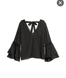 Нарядная блуза H&M с воланами, eur 46