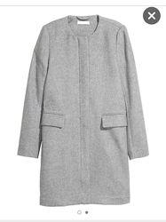 Базовое пальто из шерсти H&M PREMIUM, xs