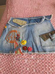 Джинсовая юбка moschino  и  hm
