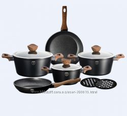 Набор посуды  BH-1534, 10 пр. Ebony Maple Line гранитно-мраморное покрытие