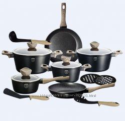 Набор посуды  BH-1536, 15 предметов Ebony Maple Line  мраморное покрытие