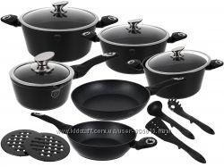 Набор посуды  BH-1536, 15 предметов  Changing Flameguard Line мраморное пок
