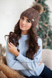 Женская шапка, шапки, меховые ушки, хомут шарф