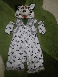 Очень красивый костюм Далматинца 4-6 лет, одет 1 раз