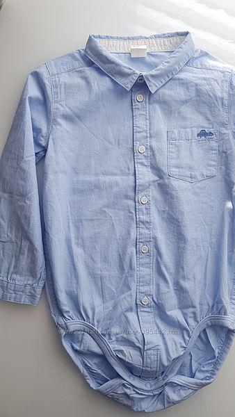 Рубашечка- бодик h&m на 3-4 года. новая.