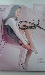 Білі колготки Gatta сітка на зріст 140см