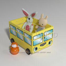 Очень красивые и нужные ящики для игрушек из сосны