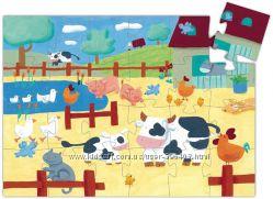 Пазл Коровы на ферме 24 элемента DJECO