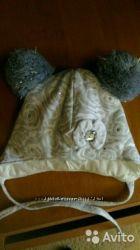 Новая зимняя шапочка со стразами на синтепоне р. 49на 47-50