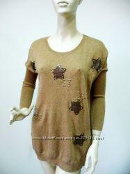 Стильный удлиненный свитер туника