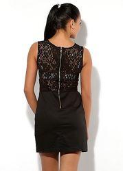 FRANKIE MORELLO платье черное с кружевом