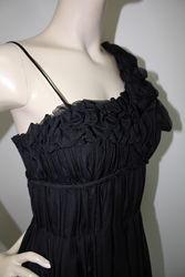 Вечернее платье макси шелк шифон черное