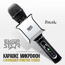 Караоке Микрофон с очисткой песен от голоса Everstar i8 Беспроводной
