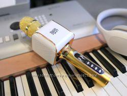 Караоке Микрофон  EverStar i8 Беспроводной  Bluetooth FM Золотой Gold