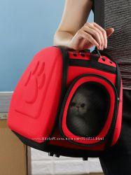 Удобная и легкая сумка-переноска Happy Paw для кошек и небольших собак