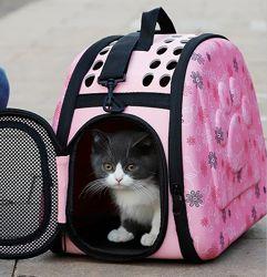 Переноска для кошки, кота, маленькой собаки. Сумка-переноска для животных