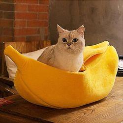 Лежак банан для кошек. Лежанка для кота, собачки. Домик для кота