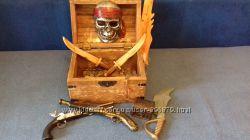 Сундук пирата. Піратська скриня для скарбів. Новогодний подарок