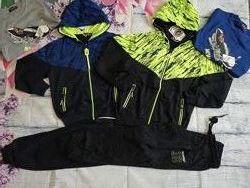 Трикотажный спортивный костюм тройка для мальчиков 122-128